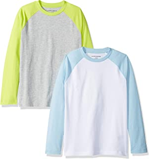Amazon Essentials Boys Long-Sleeve Raglan Baseball T-Shirts