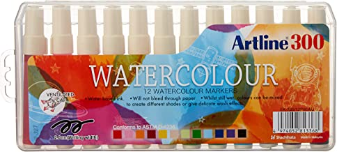 ARTLINE 130041 300 LIQUID CRAYON COLOURING MARKER WATER BASED, ASSORTED