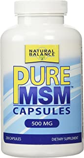 Natural Balance 500 mg Pure MSM Nutritional Supplement, 250 Count