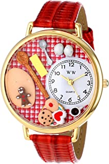 Whimsical Watches Unisex G0310005 Baking Red Leather Watch