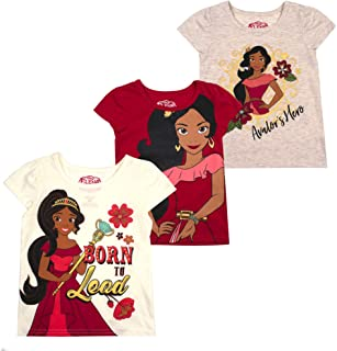Disney Princess T-Shirts for Girls – 3 Pack Short Sleeve...