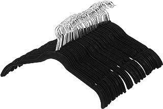 AmazonBasics Velvet Clothing Hangers - 50-Pack, Black