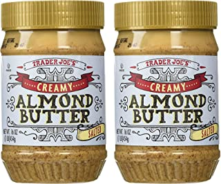 Trader Joe's Creamy Salted Almond Butter 16 oz (Pack of 2)