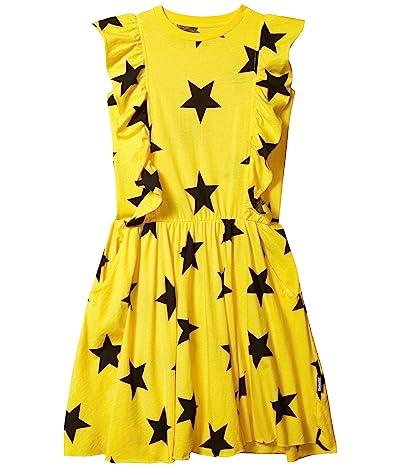 Nununu Ruffled Star Dress (Little Kids/Big Kids) (Lava Yellow) Girl