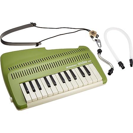 SUZUKI スズキ 鍵盤リコーダー アンデス andes 25F 鍵盤楽器なのに笛の音 和音も奏でられる鍵盤リコーダー グリーン