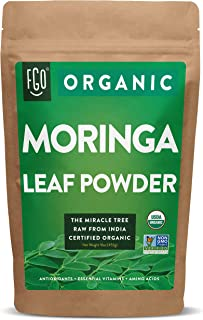 Organic Moringa Oleifera Leaf Powder | Perfect for Smoothies, Drinks, Tea & Recipes | 100% Raw From India | 16oz Resealabl...