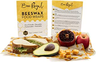 BEE ROYAL Beeswax Food Wrap Eco-Friendly Reusable Sustainable Washable