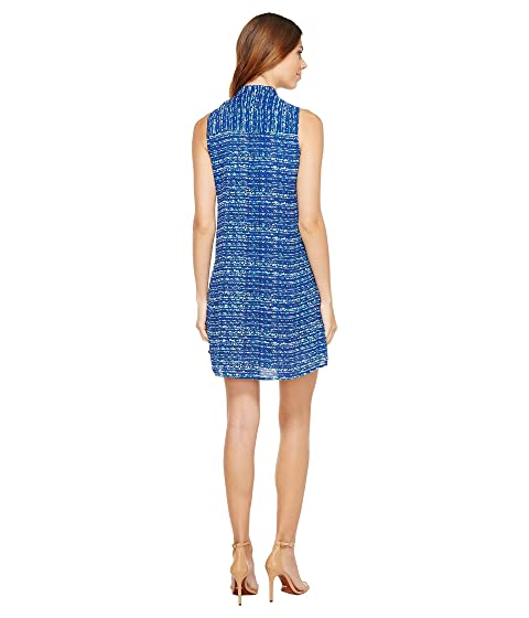 Neck Colorful Highlights Sleeveless Tie Dress CeCe waHCInqq