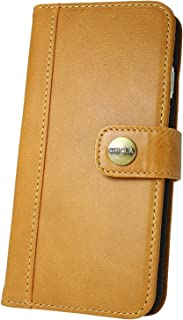 CIBOLA iPhone 5 iPhone 5s iPhone SE case Genuine Leather Durable Wallet Flip Book Cover Design with Kickstand [ID Card Slot], NO Magnetic (Brown, iPhone SE / 5s / 5)