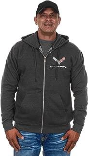 Men's Chevy Corvette Hoodies Pullover & Zip Up Sweatshirts in 6 Styles