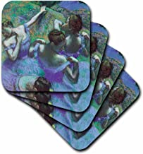 3dRose CST_127011_2 Blue Dancers by Edgar Degas Soft Coasters, Set of 8