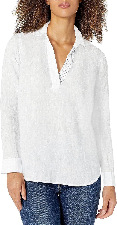 NYDJ Women's Linen Popover Tunic Virginia Beach Financial sales sale Mall