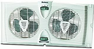 Holmes Dual Blade Twin Window Fan, 2 Speed Setting, White