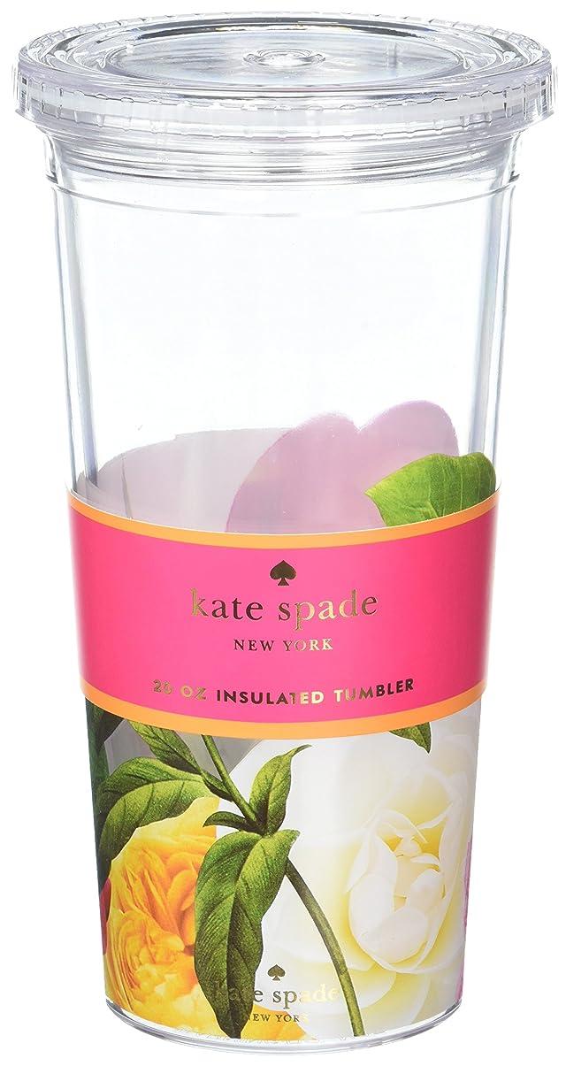 みなさん知覚する無駄kate spade new york Tumbler with Straw, Floral by Kate Spade New York