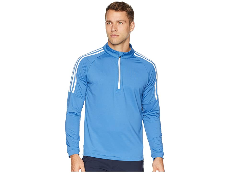 adidas Golf Classic 3-Stripes 1/4 Zip Pullover (Trace Royal) Men