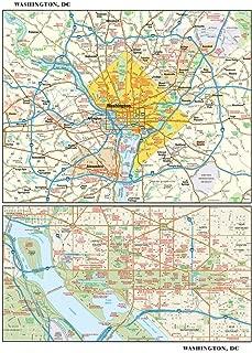 Washington, DC Wall Map - 11.5