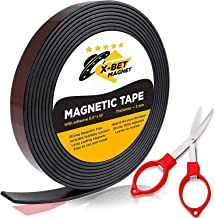 Flexible Magnetic Tape – 1/2 Inch x 10 Feet Magnetic Strip with Strong Self..