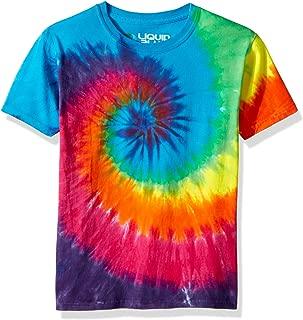 Liquid Blue Kids' Rainbow Spiral Short Sleeve T-Shirt