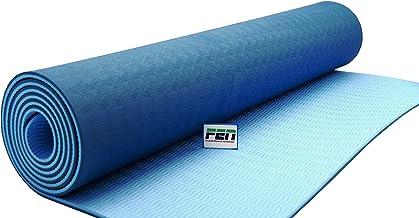 Fen Yoga Mat Blauw – fitness mat – extra dik – geschikt voor yoga, crossfit, fitness en hometraining