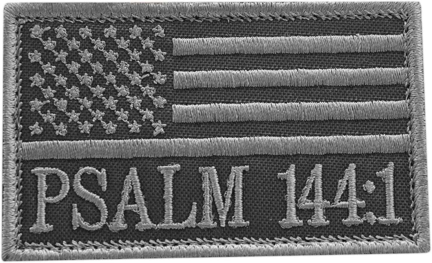 LEGEEON Subdued Psalm 144:1 2x3.25 USA Tactical Special price Christian Max 82% OFF Morale