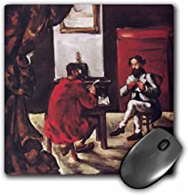 3dRose BLN Book and Reading Featured in Fine Art – Paul Alexis Reading to Zola, 1869 by Paul Cezanne – MousePad (mp_171073_1)