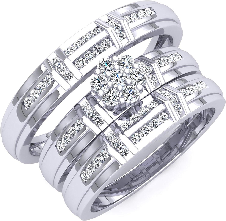 In stock Memphis Mall Dazzlingrock Collection 0.50 Carat ctw Round White Diamond Men