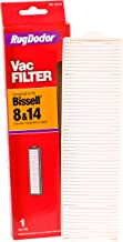 Bissell 8/14 Pleated Filter by Rug Doctor, One Replacement Vacuum Filter Made with HEPA Media, Made to Trap Pollutants when Deep Cleaning Carpets