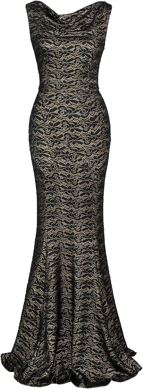MUXXN Women's 30s Brief Vintage Classic Sleeveless Sheath Mermaid Evening Dress