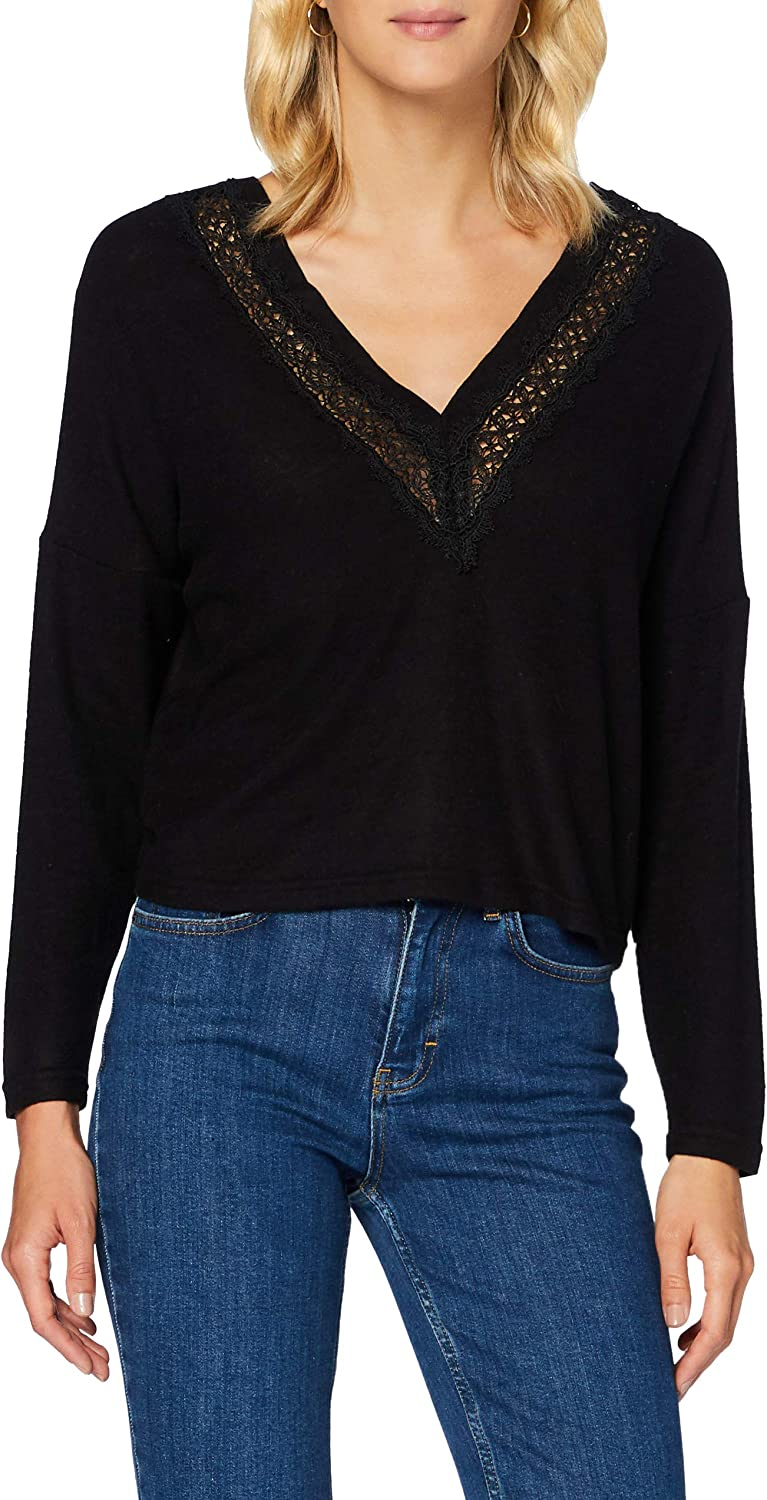 Only Onlmayea Life L//S Lace Pullover CC Knt Suter Pulver para Mujer