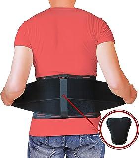 Ceinture de soutien du dos par AidBrace - Soulagement rapide de la douleur au bas du dos - Maille respirante au dos avec sangles réglables ...