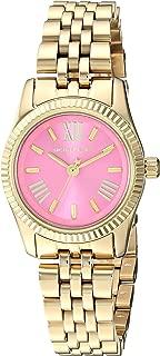 Michael Kors Women's Lexington Quartz Watch with Stainless-Steel-Plated Strap, Gold, 11.8 (Model: MK4363)