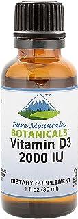 Liquid Vitamin D Drops - Unflavored Kosher D3 Liquid Drops in MCT Oil - 2000iu per Serving - 1oz Bottle