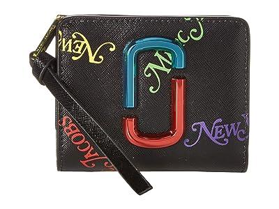 Marc Jacobs Mini Compact Wallet (Black) Wallet Handbags