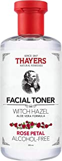 THAYERS Alcohol-Free Witch Hazel Facial Toner with Aloe Vera Formula, Rose Petal, 12 Fl Oz