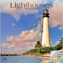 Lighthouses Calendar 2020 Set - Deluxe 2020 Lighthouses Wall Calendar with Over 100 Calendar Stickers (Lighthouses Gifts, Office Supplies)