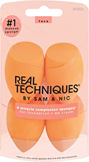 Real Techniques Miracle Complexion Beauty Sponge Makeup Blender, Set of 4