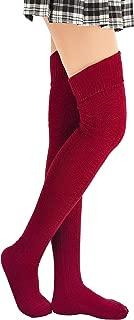 Women's Thigh High Socks Cotton Over the Knee Stockings Wild Thin Leg Warmers