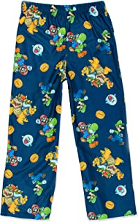 Image of Blue Game Characters Super Mario Pajama Pants for Boys