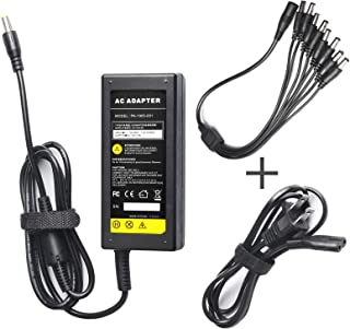 Fancy Buying Security Camera Power Adapter 12V 5A 100V-240V AC to DC 8-Way Power Splitter Cable FCC Certified LED Power Adapter Transformers-Fits Analog/AHD DVR/Camera, RGB LED Strip Lights