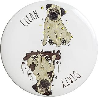 Sutter Signs Clean Dirty Dog Dishwasher Magnet (Pug)