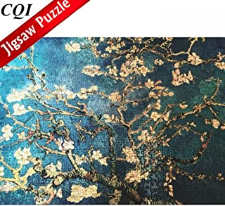 1000 Piece Puzzles for Adults - Rebirth Almond Tree Branches in Bloom by Vincent Willem Van Gogh Puzzles
