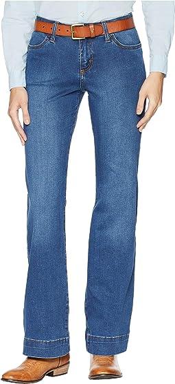 Retro Mid-Rise Wide Leg Jeans
