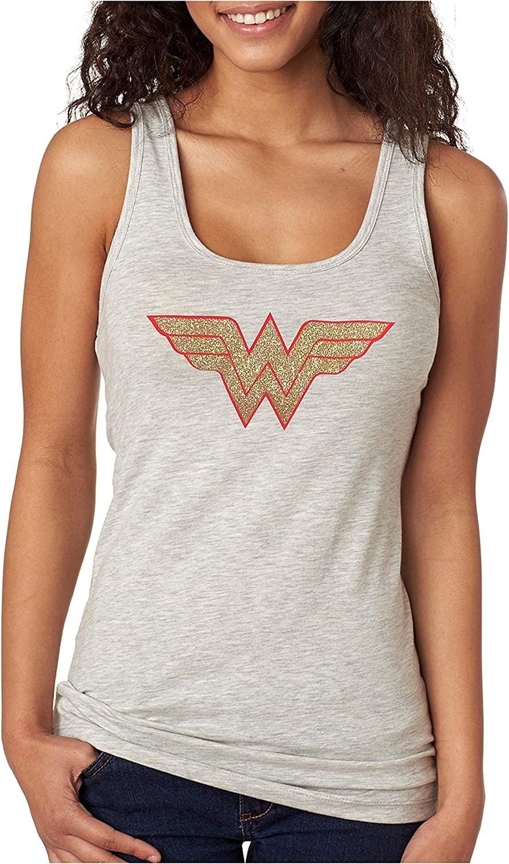 Devious Apparel 'Wonder Woman' Fitted Women's Glitter Tank Top  Cotton, Polyester Blend