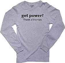 Hollywood Thread Got Power? Thank a Lineman - Worker Job Men's Long Sleeve T-Shirt