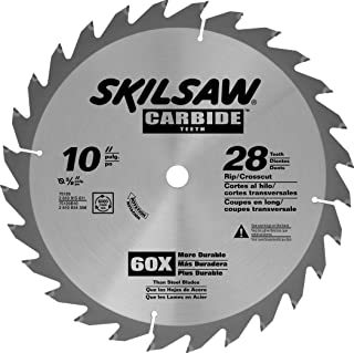 SKIL 75128 Carbide-Tipped 28-Tooth Circular Saw Blade, 10