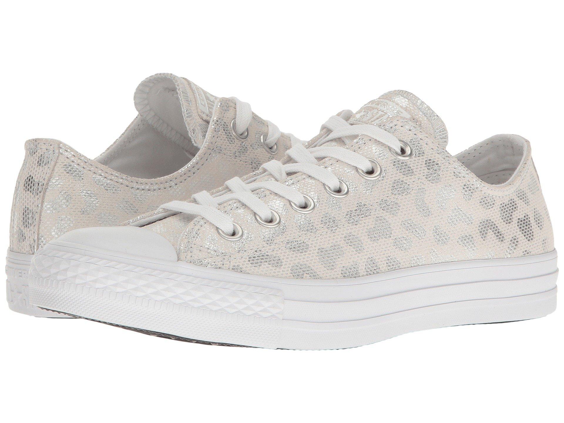 752f83d2241b Converse Chuck Taylor® All Star® Brea Animal Glam Textile Ox In White Silver