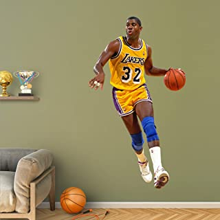 Fathead NBA Los Angeles Lakers Magic Johnson - Life-Size Officially Licensed NBA Removable Wall Decal