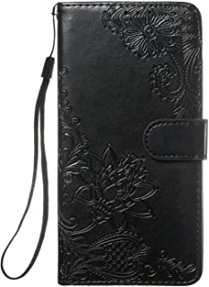 PU Leather Flip Cover Compatible with iPhone 11 Pro, Elegant black Lace Wallet Case for iPhone 11 Pro