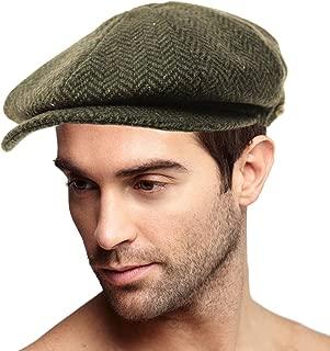 Men's 100% Winter Confetti Wool Herringbone Newsboy Drivers Cabby Hat