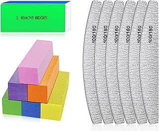 Nagelvijlen en buffers - Professionele nagelvijlen Blok voor het polijsten van nagels, Manicure-instrumenten voor nail art...
